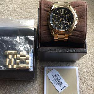 Michael Kors, Oversized Bradshaw Gold Tone Watch